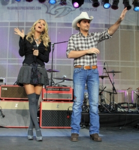 Carrie Underwood and Brad Paisley Perform on ABC's Good Morning America