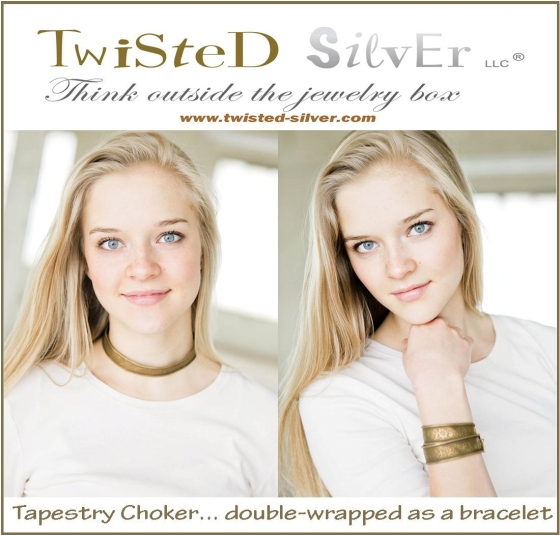 Twisted Silver Tapestry Choker