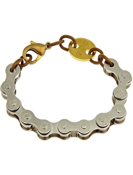 Twisted Silver RIDE bracelet