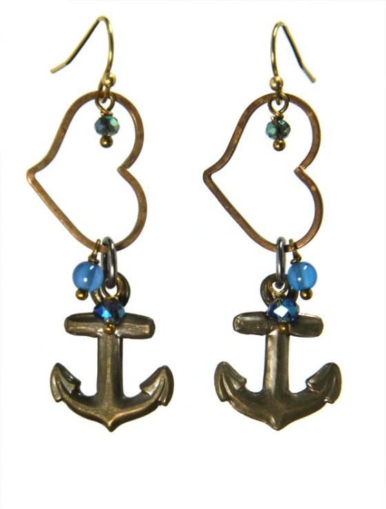 Anchors Away earrings