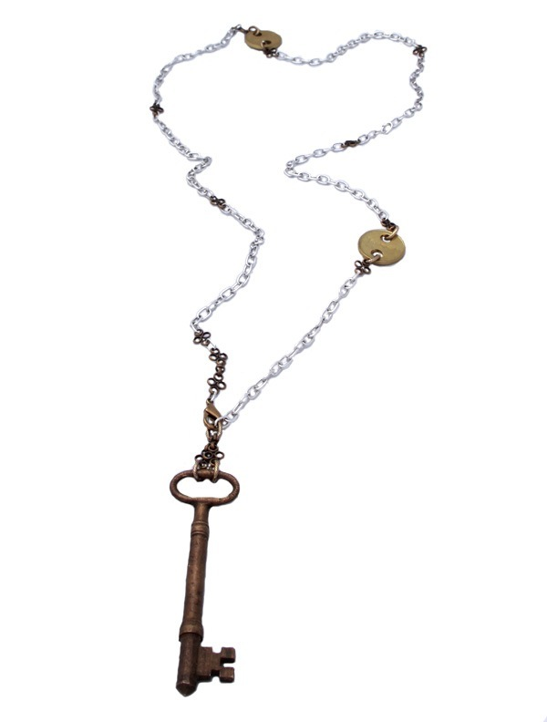 Twisted Silver's Key Necklace