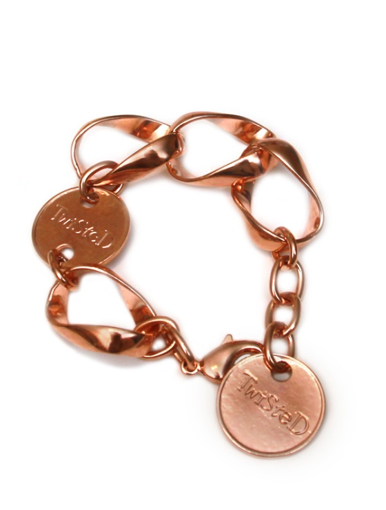 Twisted Silver's Phatty bracelet in rosy brass