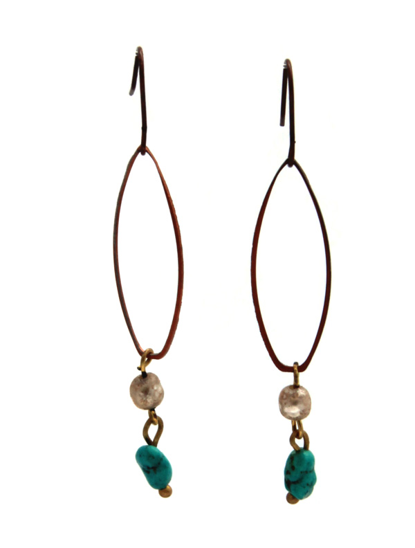 Twisted Silver's Copper Lithe earrings